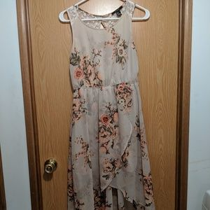 Forever 21 Floral Asymmetrical Sleeveless Dress